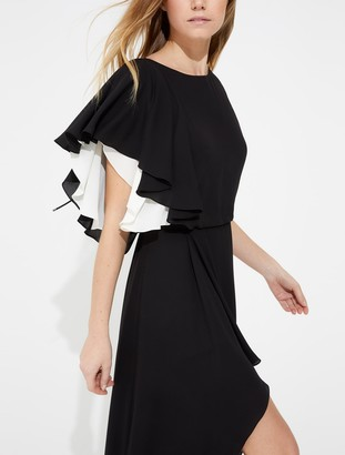 Halston Draped silky georgette gown