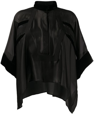Sacai asymmetrical tunic blouse