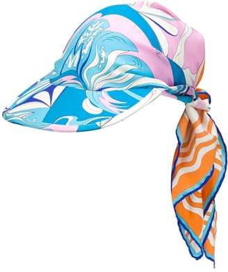Emilio Pucci Tie-Detail Patterned Baseball Cap