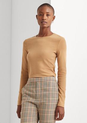 Ralph Lauren Cotton-Blend Long-Sleeve Top