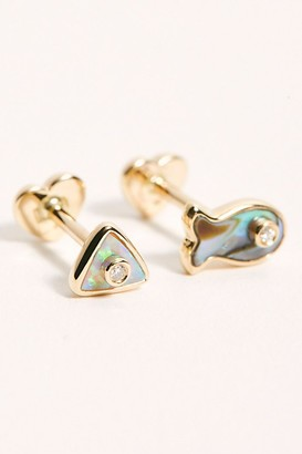 Pamela Love x FP Inlay Diamond Stud Single Earring