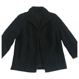 Astrakhan Non Signe / Unsigned Hippie Chic Black Coat for Women Vintage