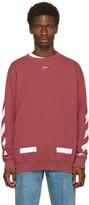 Off-White Red Diagonal Arrows Crewneck Sweatshirt