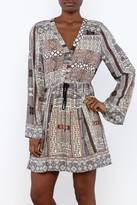 Entro Patchwork Printed Dress