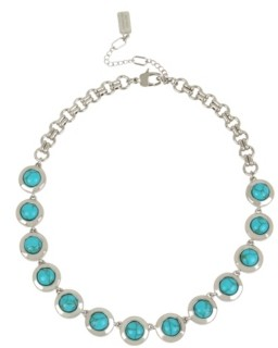 Kenneth Cole New York Silver-Tone Cabochon Frontal Necklace