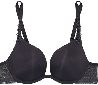 Simone Perele Muse Leavers Lace-paneled Stretch-jersey Plunge Bra