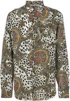Roberto Cavalli leopard paisley print shirt - men - Silk/Cotton - 42