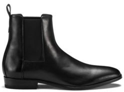 HUGO BOSS Chelsea boots in nappa leather with full-leather sole