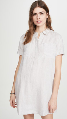 James Perse Linen Pocket Shirtdress