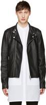 Diesel Black Gold Black Leather Biker Jacket