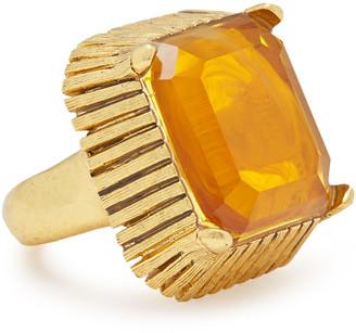 Elizabeth Cole 14-karat Gold-plated Stone Ring