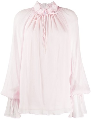 Redemption Pittore ruffle neck blouse
