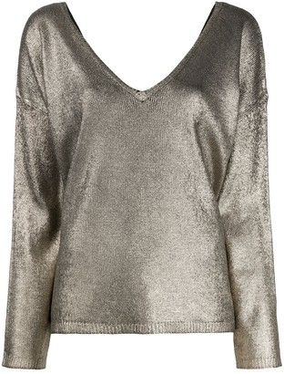 Majestic Filatures Metallic Knit Jumper
