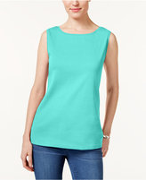 Karen Scott Boat-Neck Tank Top, Only at Macy's