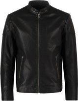 Jack & Jones Jcorush Faux Leather Jacket Black