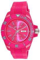 Jet Set J 83491-23 Bubble Unisex Watch Analogue Quartz Pink Rubber Strap Pink Dial
