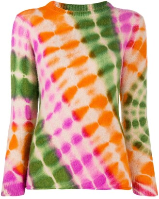The Elder Statesman Abstract-Print Jumper