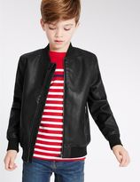 Marks and Spencer Faux Leather Jacket with StormwearTM (3-14 Years)