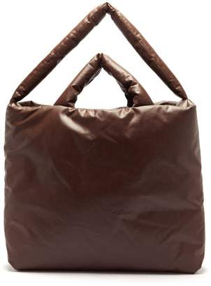 Kassl Editions - Oil Large Padded Canvas Tote Bag - Womens - Dark Brown