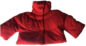 Valentino Red Wool Coat for Women
