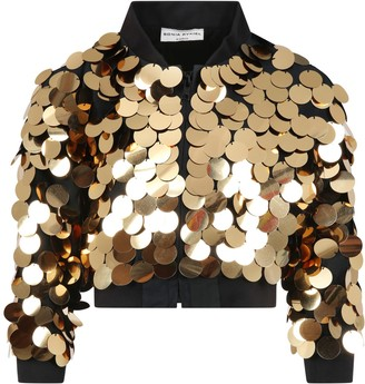Sonia Rykiel Black Jacket For Girl With Sequins