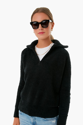 525 America Black Plush Half Zip Pullover