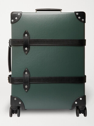 "Globe-trotter No Time to Die 20 Leather-Trimmed Carry-On Suitcase"" - Men - Green"