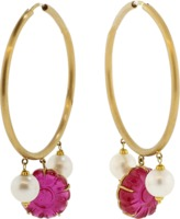 A2 BY ARUNASHI South Sea Pearl And Ruby Hoops