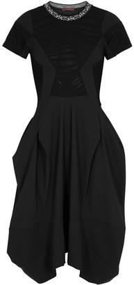 High Praise black jersey midi dress