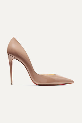 Christian Louboutin Iriza 100 Patent-leather Pumps - Neutral