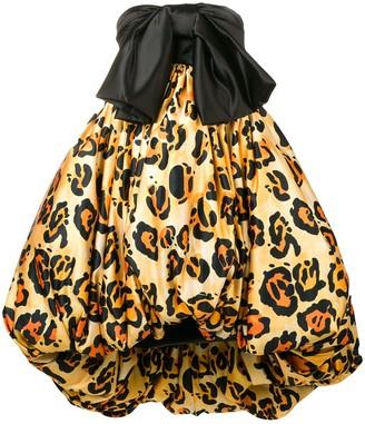 Richard Quinn Leopard Print Puffball Dress
