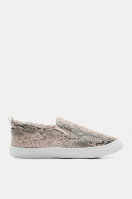 Ardene Snakeskin Slip-On Sneakers