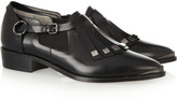 Karl Lagerfeld Fringed leather brogues