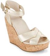 Kenneth Cole New York Clove Metallic Wedge Sandals