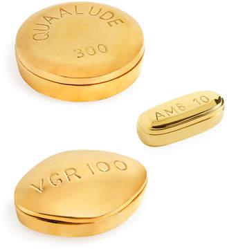 Jonathan Adler Brass Pill Box Set