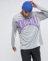 Asos Dropped Shoulder Oversized Long Sleeve With Immortal Print