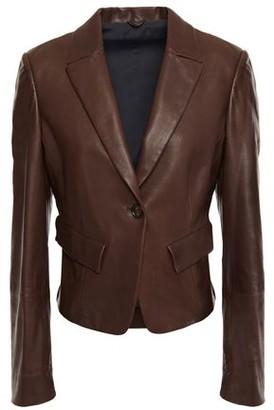 Brunello Cucinelli Bead-embellished Leather Blazer