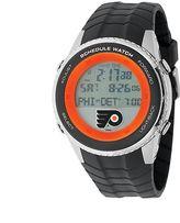 Game Time Philadelphia Flyers Silver Tone Digital Schedule Watch - NHL-SW-PHI - Men