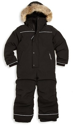 Canada Goose Little Boy's Grizzly Coyote Fur-Trim Down Snowsuit