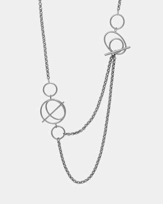 Wanderlust + Co Helix Silver Layered Necklace