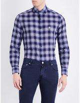 Corneliani Checked Tailored-fit Pure-cotton Shirt