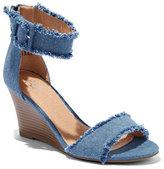 New York & Co. Denim Wedge-Heel Sandal