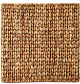 Leila's Linens S/6 Square Natural Straw Place Mats, 15