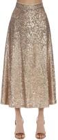 High Waist Sequined Midi Skirt
