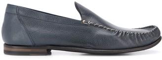 Silvano Sassetti Textured Stitch Detail Loafers
