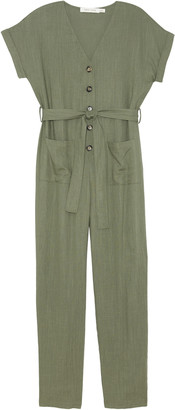 Bishop + Young Women's Flynn Jumpsuit In Color: Olive Size XS From Sole Society