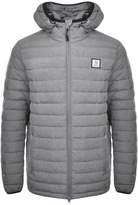 Franklin & Marshall Franklin Marshall Nylon Hooded Jacket Grey