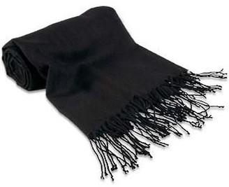 Forzieri Black Pashmina Shawl