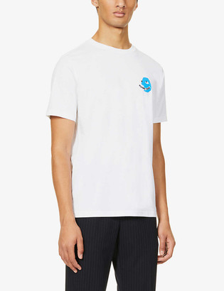 Paul Smith Face print organic cotton T-shirt