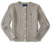 Ralph Lauren Girls 2-6x Cable Knit Cardigan